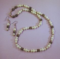 Yellow Pearls and Gold Pillows Necklace and by TamsJewelry on Etsy, $38.99