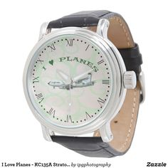 I Love Planes - KC135A Stratotanker - Wrist Watch with Roman dial #wristwatch #watches