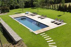 Backyard Pool Landscaping, Small Backyard Pools, Backyard Pool Designs, Small Pools, Swimming Pools Backyard, Swimming Pool Designs, Piscine Simple, Swimming Pool Pictures, Simple Pool