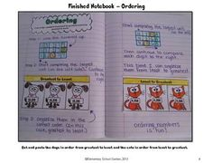 Common Core Interactive Math Notebook - Ordering Numbers Pages    Perfect for 4th Grade!