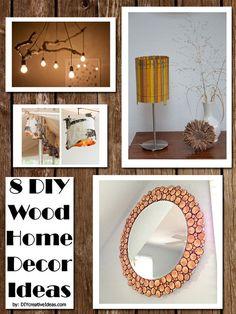 8 DIY Wood Home Decor Ideas / DIY Creative Ideas