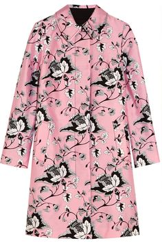 Pastel-pink, black and white wool and silk-blend Concealed button fastenings through front Fabric1: 57% wool, 43% silk; fabric2: 97% cotton, 3% elastane; lining: 65% polyester, 35% cotton Dry clean