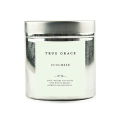 Buy True Grace Walled Garden Candle in Tin - Cucumber | Amara