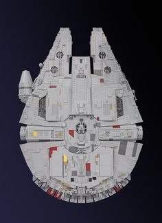 https://flic.kr/p/BWsUcu | Millennium Falcon (Starwars VII) | The millennium falcon is still the coolest spaceship in the galaxy! This is why I have always wanted to build my own version! Inspired by Mikes, WIP-images, I was encouraged to start my own project. It took me a whole year to accomplish this build (including planning and collecting bricks). My main goal was to present the model in a flying position, which was a huge task. Due to its internal framework it was not possible to inc...