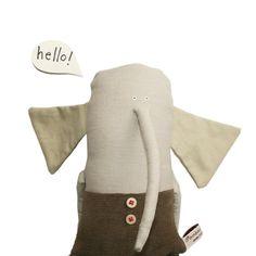 Elephant Stuffed Toy Toy Elephant Soft Toy Animal par poosac, £40.00
