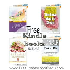 Free Kindle Books 4/11/13: Titanic A to Z, The Amazing Paleolithic Cookbook, Wonder is a Verb, Grimms Fairy Tales, plus more