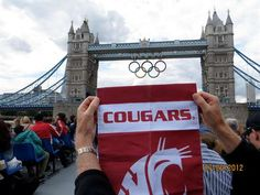 The WSU flag at the London 2012 Olympics via WavetheFlag.org #GoCougs