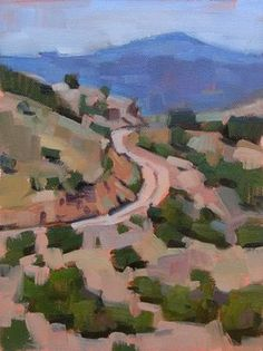"""Daily Paintworks - """"Dusty Road --- SOLD"""" - Original Fine Art for Sale - © Carol Marine"""