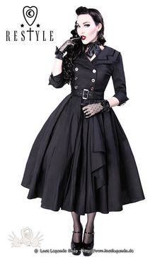 Gothic Kleid COAT DRESS                                                                                                                                                                                 Mehr