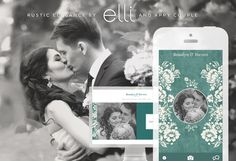 Rustic Elegance by Elli & Appy Couple I Head to appycouple.com to browse more designs and create your own wedding app & website