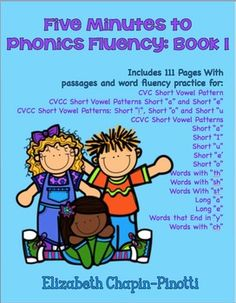 Five Minutes to Phonics Fluency Book 1Increasing student fluency proficiency and phonics mastery through word practice is an engaging way to help students move from dragging themselves across endless pages of text  to truly enjoying the written word.  The following techniques, designed to move students to reading fluency, are research-based, use highly-effective instructional strategies and are designed to work as either whole class activities, partner work, group work, homework or as in… Reading Fluency, Teaching Reading, Guided Reading, Teaching Second Grade, First Grade Reading, Primary Resources, Learning Resources, Class Activities, Reading Activities
