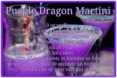 85 ml Vodka -43ml jus de cranberry - 14 ml liqueur de curacao bleu - 14 ml de sweet & sound mix (remplacer par un sirop de citron auquel on ajoute un peu de sirop d orange) - 14ml de 7 up - Mettre tous les ingrédients dans un blender  20 de 30 secondes à haute vitesse. Saler le rebord de votre verre à martini