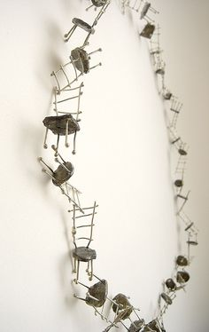 Liisa Hashimoto. Necklace: 30 Chairs silver, 2010. Silver. 40x40 cm.