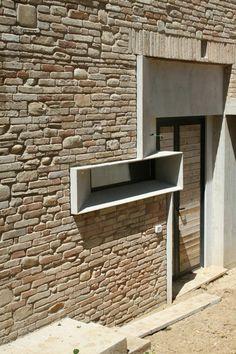 Picture House by Barilari Architetti, Ripatransone, Italy // Dimster Architecture Architecture Durable, Architecture Design, Facade Design, Residential Architecture, Amazing Architecture, Contemporary Architecture, Exterior Design, Brick Building, Building Design