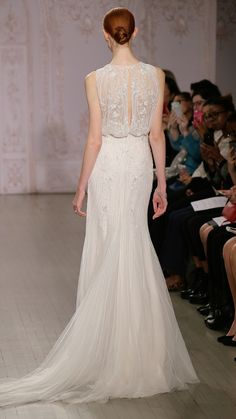Monique Lhuillier Bridal Fall 2015 via @stylelist | http://aol.it/1vB7XNV