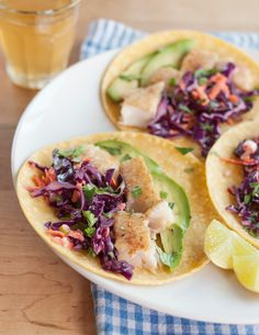 I always forget how good, healthy, and easy fish tacos are until I make them and vow to do it more often. They're remarkably adaptable to any type of not-too-expensive fish you might find in your local market. You can use any kind of white fish fillet, like sole, snapper, catfish, or tilapia. I prefer saltwater species, but sometimes the freshwater farmed fish are more economical. The textural contrast between lightly crispy fish, supple corn tortillas, and soft avocado is a big part of…