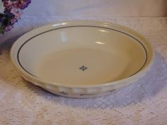 Longaberger Pottery Pie Plate Grandma by EmptyNestVintiques, $34.97