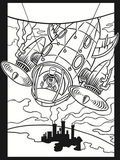 steampunk coloring pages | Dover Publications. You can browse our complete catalog of over ...
