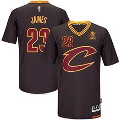 7e9502d350 23 LeBron James Cleveland Cavaliers Mens Road Swingman Jersey Black color  Size XXL  gt  gt  gt