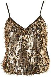 Get into the galactic fever with this rectangle sequin cami top. #topshop #galactica