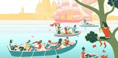 Sam Chivers illustrates Totally Thames