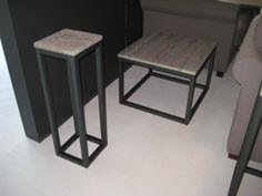 MetalWood hoek- en plantentafel.