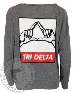 Delta Delta Delta Throw Raglan by Adam Block Design | Custom Greek Apparel & Sorority Clothes | www.adamblockdesign.com