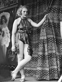 a fan dancer at Hampstead Heath Fair