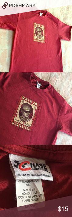 Dale Jr. Budweiser Racing Tee/ fresh as can be 🏎 Chase Authentic/ Dale Jr. NASCAR Budweiser Racing tee . Nice red tee with minimal wear . Clean , simple & plain . Large & in wonderful condition . 🏎 zoom zoom Vintage Tops Tees - Short Sleeve