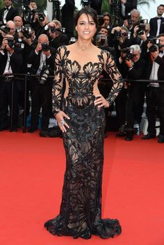 Camila Alves, Joan Smalls, Adriana Lima, Eva Longoria, Salma Hayek, Lupita Nyong'o, and Michelle Rodriguez were all there and got into the spirit of Cannes by wearing their best from airport to red carpet to the afterparties.