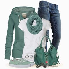 Get Inspired by Fashion: Casual Outfits | Hoodies, Jeans and Sneakers - Except that I don't like the shoes. They make the outfit look old. Maybe some Chucks...