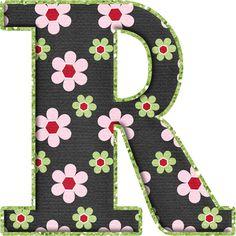 .Alfabeto de florecitas rosas ...De Eduarda Cavalcanti ...R