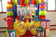 Elmo/Sesame Street 1st Birthday  | CatchMyParty.com
