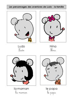 En classe avec Ludo: affiches des personnages