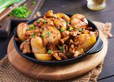 Wild Mushrooms, Stuffed Mushrooms, Vegan Gluten Free, Vegan Vegetarian, Pan Fried Potatoes, Yellow Potatoes, Kung Pao Chicken, Fries, Cooking