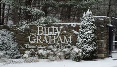 Beautiful snow day!  The Billy Graham Training Center, Asheville, NC.