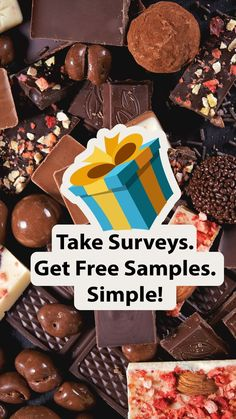 Get free samples delivered to your home by doing online surveys. The average survey pays $5; taking 5 surveys a day, 5 days a week gives $500/month Find out more by clicking on the image and enter your details on the website. By entering your email you'll see the top Paid Survey Companies available to you.