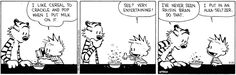 "Breakfast is the ""most important meal of the day"" but should it also be the most entertaining, as in this classic #CalvinAndHobbes cartoon?"