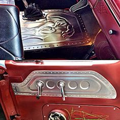 Trendy Ideas For Custom Cars Interior Sheet Metal Mustang Interior, Custom Car Interior, Truck Interior, Sheet Metal Work, Metal Shaping, Karts, Metal Forming, Chevy, Classic Mustang