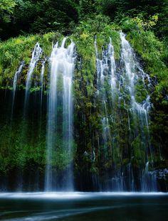 Mossbrae Falls on the upper Sacramento River near Dunsmuir, CA.