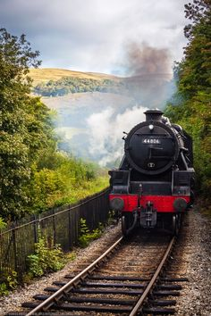 Steam train near Berwyn Station, Llangollen, Wales