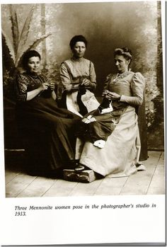 Mennonite knitters - does this resemble your sewing group@Lisa Yoder?