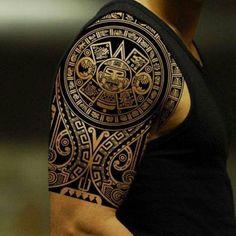 101 Best Tribal Tattoos For Men: Cool Designs + Ideas Guide) Tribal Tattoo Designs - Best Tribal Tattoos For Men - Cool Tribal Tattoo Designs and Ideas For Guys Tribal Tattoo Designs, Tribal Shoulder Tattoos, Polynesian Tattoo Designs, Tribal Tattoos For Men, Tattoos For Guys, Tattoo Shoulder, Polynesian Tattoo Sleeve, Samoan Tribal Tattoos, Polynesian Tribal