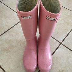 Authentic Hunter Boots - Sunday Sale!  Hi ladies! These are perfect for any closet! They're super cute and have no stains. There is a slight tear (photo 4) on the right boot. Not noticeable when worn. Silver buckles. I really don't get too much use out of these in the desert of Texas!  Price firm. No trades. All transactions must be through Poshmark. I'll wipe these down and clean them prior to shipping out! ☺️ Hunter Boots Shoes Winter & Rain Boots