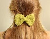 Knit Hair Bow