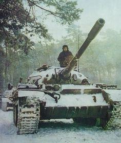Czechoslovak T-55 tank.