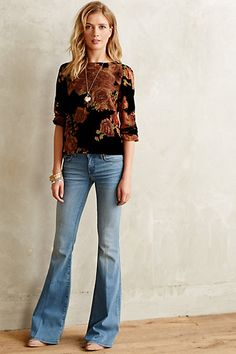 Audra Velvet Burnout Top - anthropologie.com
