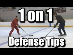 1 on 1 Defense Tips for Hockey - YouTube