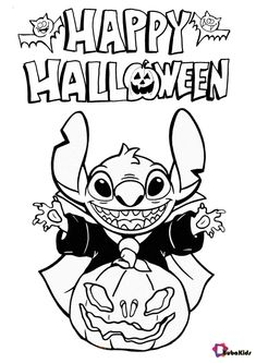 Stitch wishes you a happy Halloween 2020. Images about the 2020 Halloween celebration that you can immediately print and color. Collection of cartoon coloring pages for teenage printable that you can download and print. #HappyHalloween, #LiloAndStitch, #Stitch #HappyHalloween, #LiloAndStitch, #Stitch Halloween Celebration, Halloween 2020, Happy Halloween, Halloween Coloring Pages, Cartoon Coloring Pages, Lilo And Stitch, Wallpaper, Disney, Artist