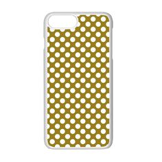 Gold polka dots patterm, retro style dotted pattern, classic white circles iPhone 7 Plus Seamless Case (White) Apple Mobile, Gold Polka Dots, Classic White, Retro Style, Iphone 7 Plus, Creative Design, Circles, Retro Fashion, Iphone Cases